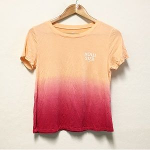 Hollister Ombré crop top XS tee T-shirt